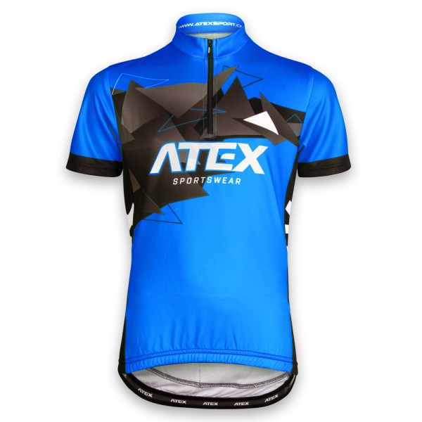 Children´s cycling jersey MIKA blue