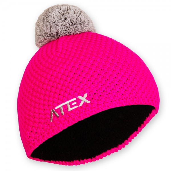 Knitted hat KNIT neon-pink