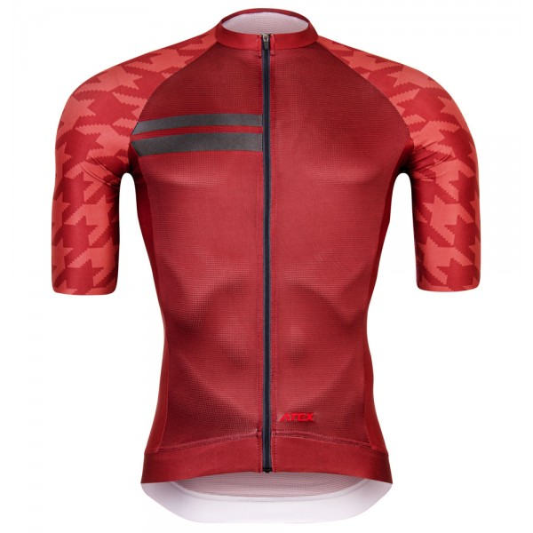 Cycling jersey GRVL, short sleeves, red