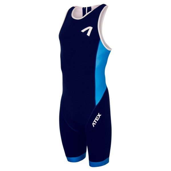 Men's triathlon suit REVOLT blue-purple
